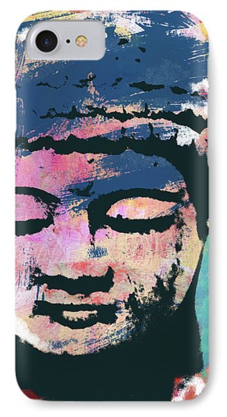 Colorful Buddha 1- Art By Linda Woods IPhone Case