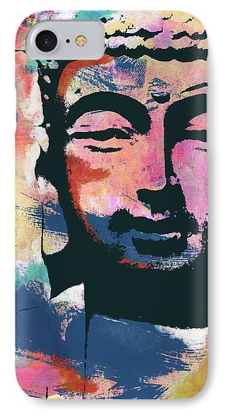 Colorful Buddha 2- Art By Linda Woods IPhone Case