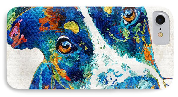 Colorful Dog Art - Happy Go Lucky - By Sharon Cummings IPhone Case