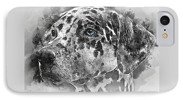 Colorful Dog Portrait 1 - By Diana Van IPhone Case