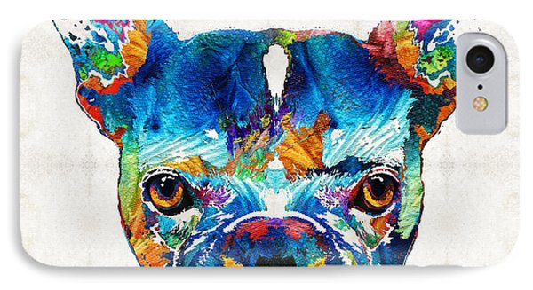 Colorful French Bulldog Dog Art By Sharon Cummings IPhone Case