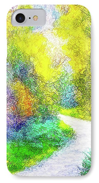 Colorful Garden Pathway - Trail In Santa Monica Mountains IPhone Case