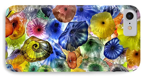 Colorful Glass Ceiling In Bellagio Lobby IPhone Case