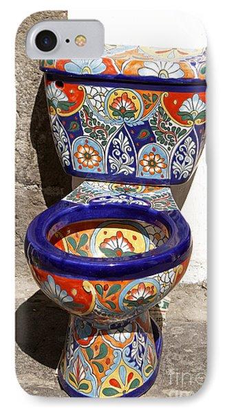 Colorful Mexican Toilet Puebla Mexico IPhone Case