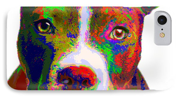 Colorful Pit Bull Terrier  IPhone Case