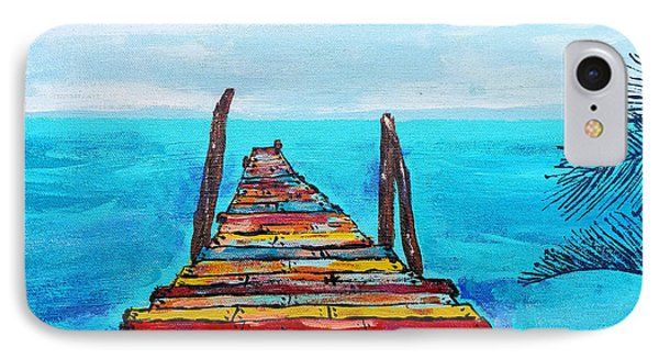 Colorful Tropical Pier IPhone Case