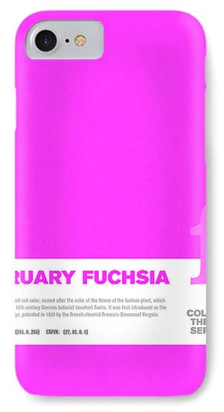 Colors Of The Year Series 02 Graphic Design February Fuchsia IPhone Case