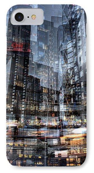 Columbus Circle Collage 1 IPhone Case