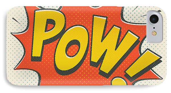 Comic Pow On Off White IPhone Case