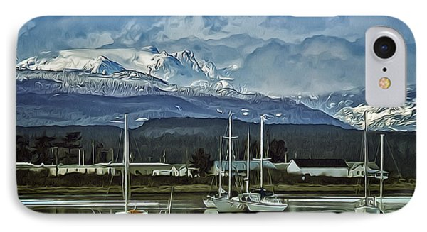 Comox Glacier Overlooking Comox Harbor IPhone Case