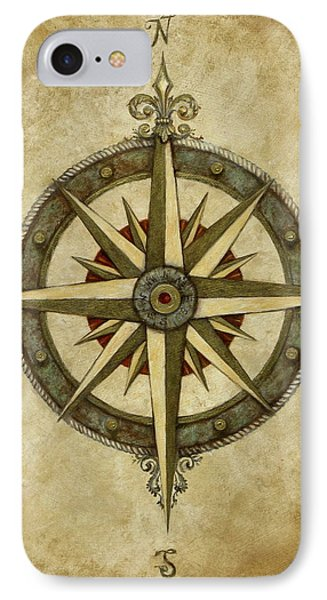 Rose iPhone 8 Case - Compass Rose by Judy Merrell
