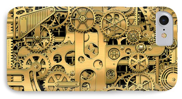 Complexity And Complications - Clockwork Gold IPhone Case