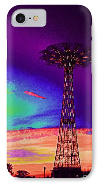 Coney Islands Parachute Jump IPhone Case