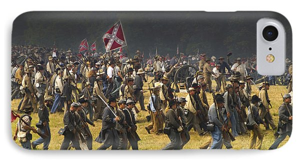 Confederate Charge At Gettysburg IPhone Case