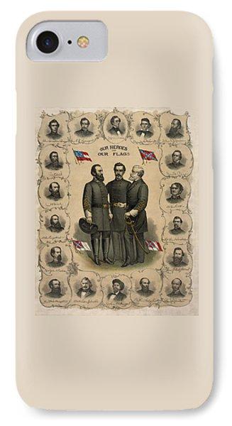 Confederate Generals Of The Civil War IPhone Case