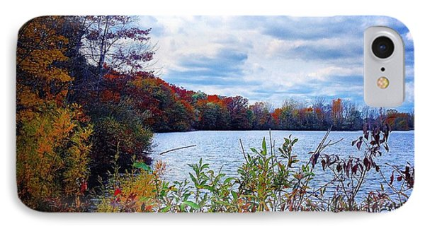 Conservation Park And Pine River In The Fall IPhone Case