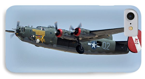Consolidated B-24j Liberator N224j Witchcraft Phoenix-mesa Gateway Airport Arizona April 15 2016 IPhone Case