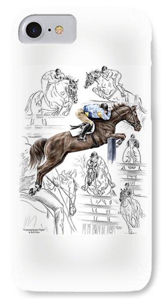 Contemplating Flight - Horse Jumper Print Color Tinted IPhone Case
