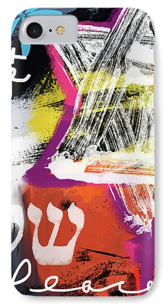 Contemporary Peace Star- Judaic Art By Linda Woods IPhone Case