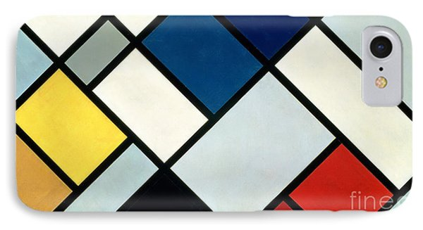 Shapes iPhone 8 Case - Contracomposition Of Dissonances by Theo van Doesburg