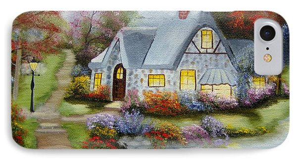 Cottage In Fall IPhone Case
