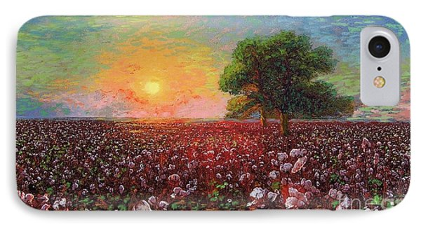 Egyptian iPhone 8 Case - Cotton Field Sunset by Jane Small