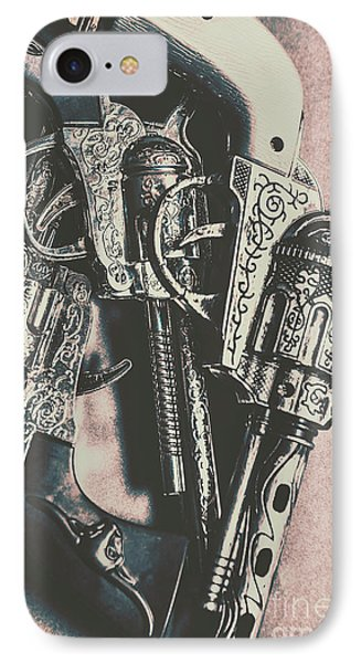 Country And Western Pistols IPhone Case