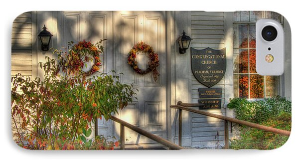 IPhone Case featuring the photograph Country Church In Autumn - Vermont Fall by Joann Vitali