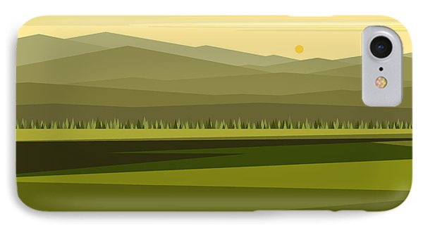 Cow Pass Spring Green IPhone Case