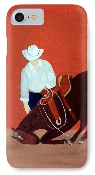 Cowboy And His Horse IPhone Case