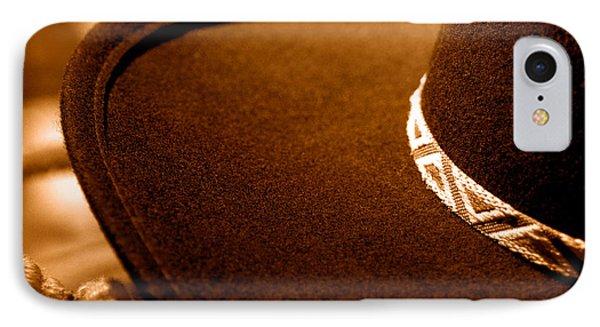 Cowboy Hat Detail - Sepia IPhone Case