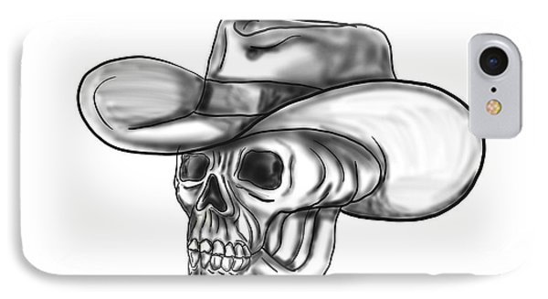 Cowboy Skull Tattoo IPhone Case