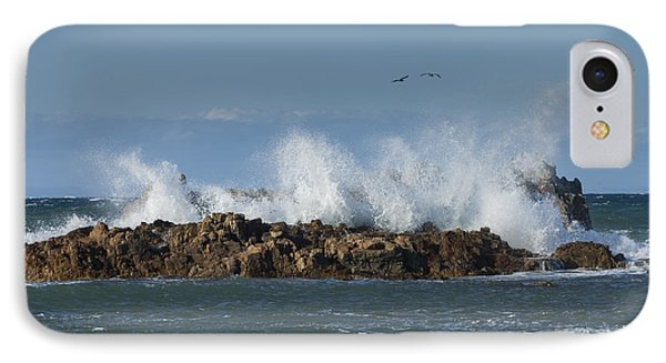 Crashing Waves And Gulls IPhone Case