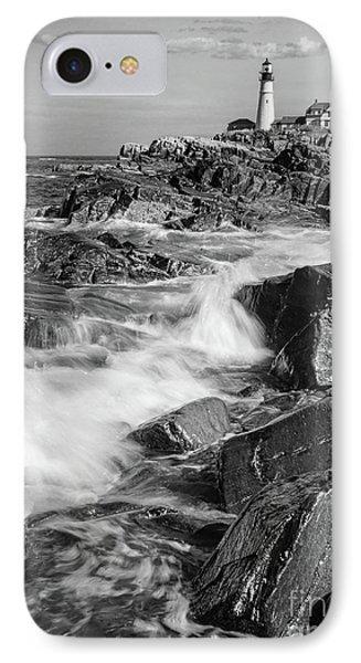 Crashing Waves, Portland Head Light, Cape Elizabeth, Maine  -5605 IPhone Case