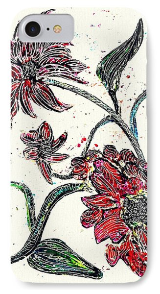 Crayon Flowers IPhone Case