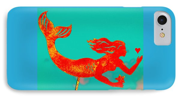 Crimson Mermaid IPhone Case