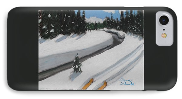 Cross Country Skiing Lone Star Geyser Trail In Yellowstone Nat. Park IPhone Case