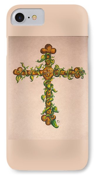 Cross With Ivy IPhone Case