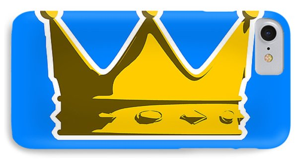 England iPhone 8 Case - Crown Graphic Design by Pixel Chimp