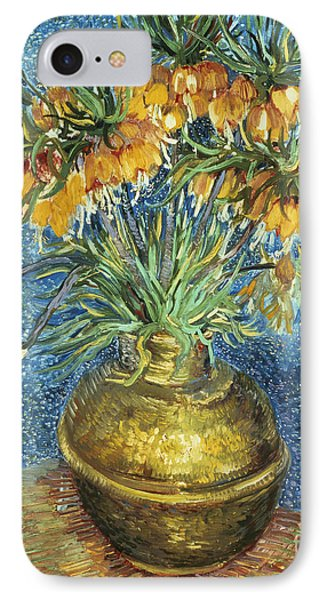 Crown Imperial Fritillaries In A Copper Vase IPhone Case