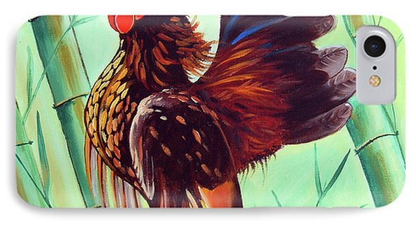 Crown Of The Serama Chicken IPhone Case