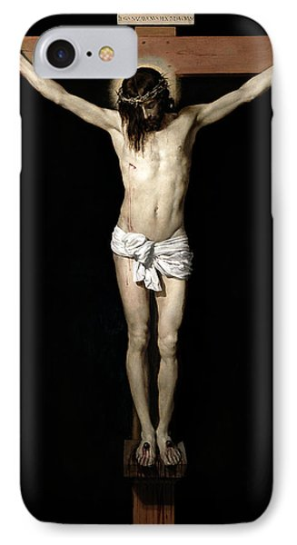 IPhone Case featuring the digital art Crucifixion by Diego Velazquez