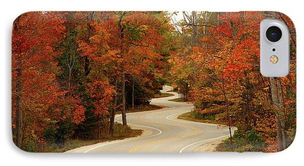Rural Scenes iPhone 8 Case - Curvy Fall by Adam Romanowicz