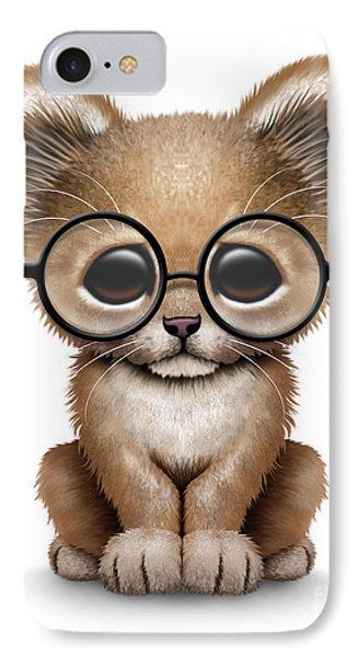 Cute Lion Cub Wearing Glasses IPhone Case