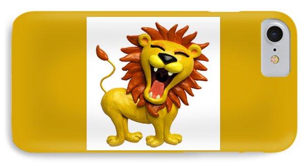 Cute Lion Roaring IPhone Case