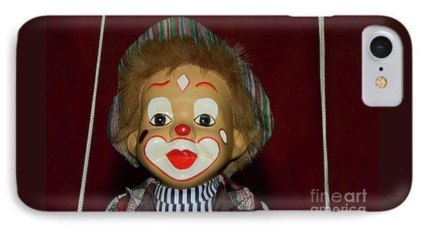 IPhone Case featuring the photograph Cute Little Clown By Kaye Menner by Kaye Menner