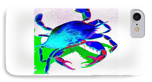 Cyan Crab IPhone Case