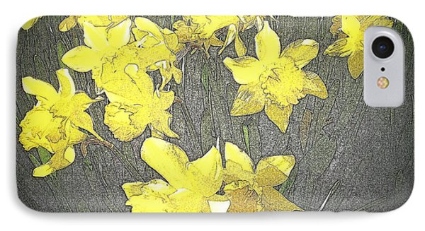 Daffodil 2-pencil Etch IPhone Case