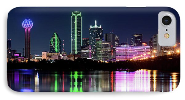 Dallas Colorful Night 52716 IPhone Case