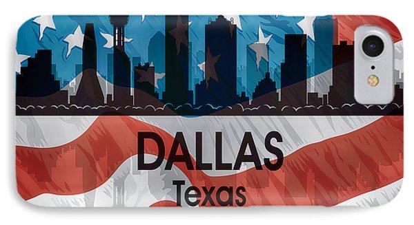 Dallas Tx American Flag IPhone Case